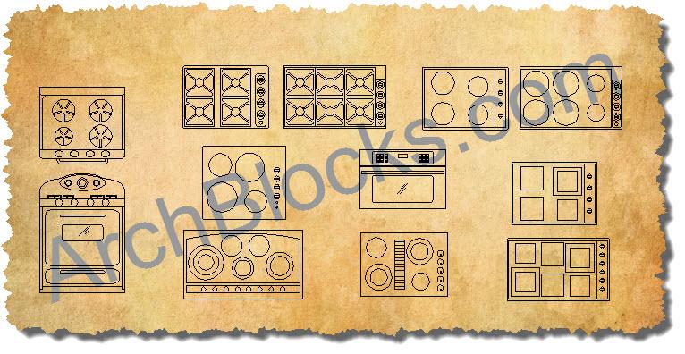 Cad Appliance Blocks Autocad Appliance Symbols Kitchen Cad