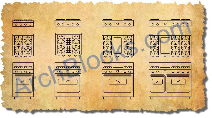 CAD Appliance Blocks AutoCAD Symbols Kitchen