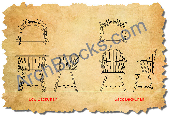 CAD Symbols Windsor Chair-01