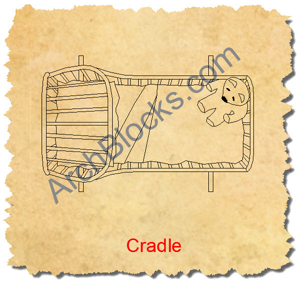 Windsor Cradle CAD Symbol Plan View