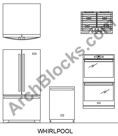 Cad Appliance Blocks Autocad Appliance Symbols Kitchen