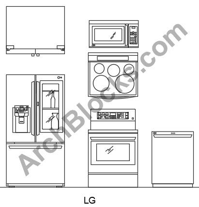 Cad Appliance Blocks Autocad Appliance Symbols Kitchen Cad Symbols Laundry Cad Symbols