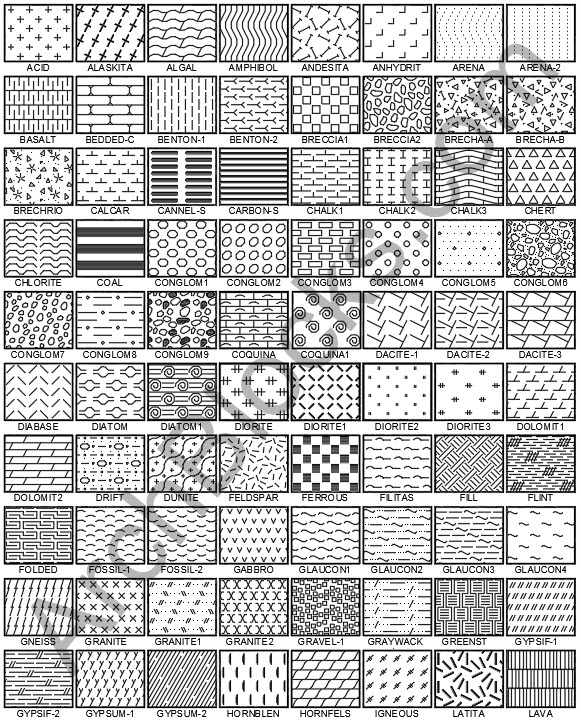 Autocad Hatch Patterns Preview Page Cad Hatch Patterns