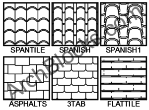 ArchBlocks Roofing and Siding Hatch Patterns