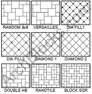 ArchBlocks Tile Hatch Patterns