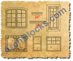 ArchBlocks CAD Windows Symbols