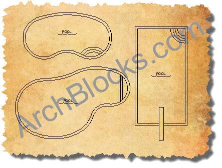CAD Pool Design Drawings AutoCAD Blocks Pools Pool