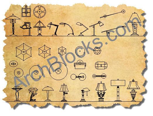 Autocad Lighting Symbols Cad Lighting Blocks Cad Light